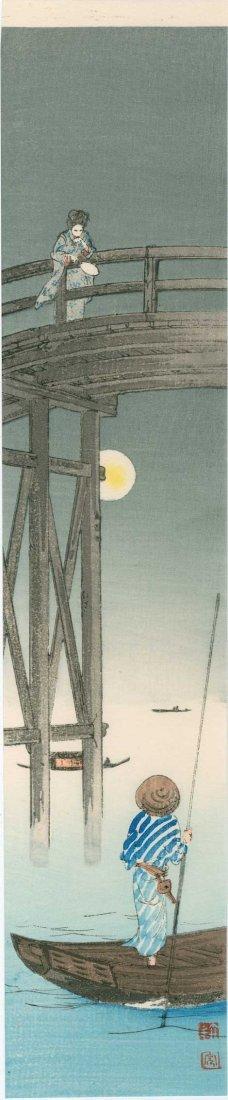 Koho Shoda: Woman on a High Bridge, 1920's