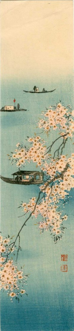 Koho Shoda: Pleasure Boats and Cherry Blossoms, 1920's