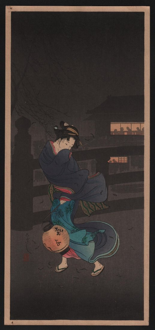 Takahashi Shotei: Cold Winter Wind, 1936