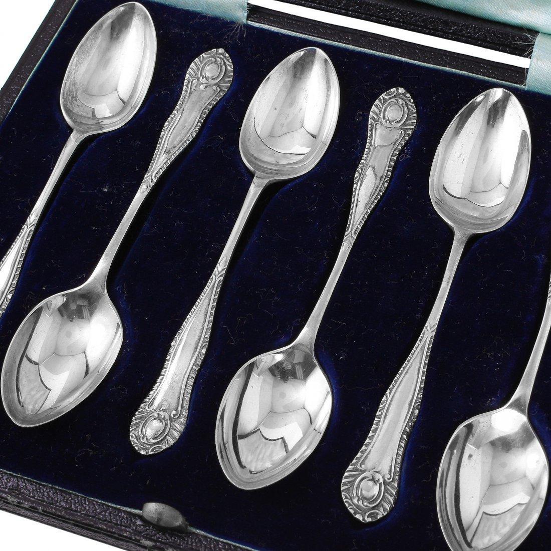 Six Vintage H. Fisher & Co. Sterling Demitasse Spoons - 2