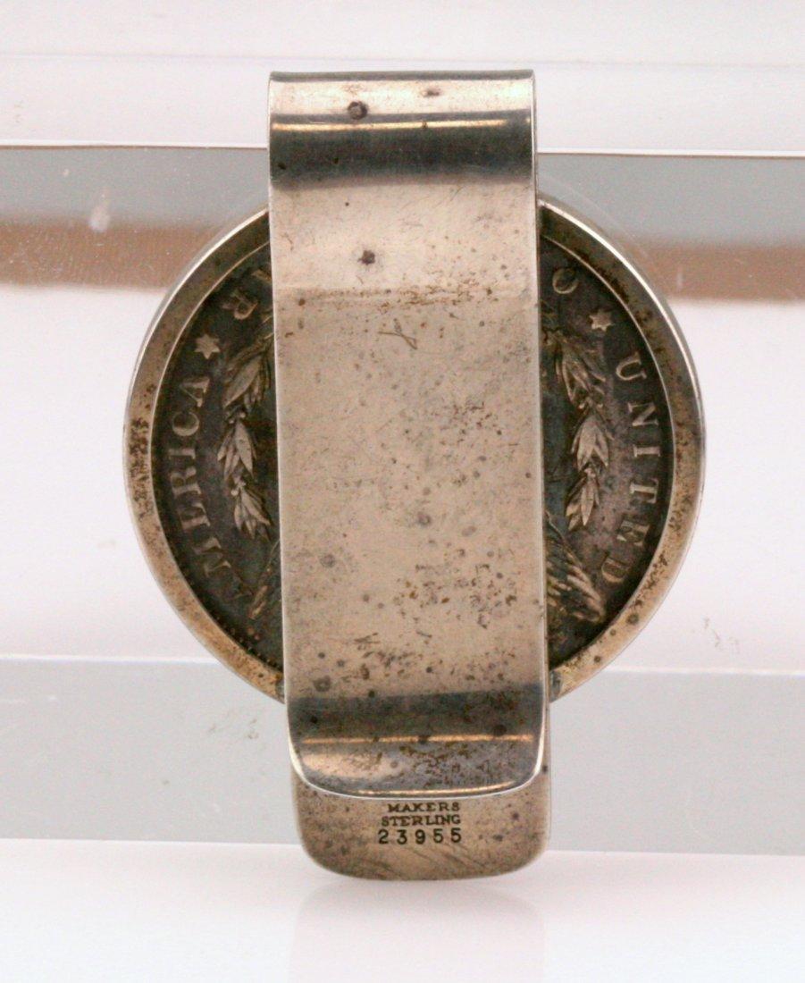 Tiffany & Co Sterling Silver Dollar Money Clip - 2