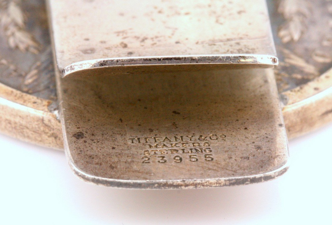 Tiffany & Co Sterling Silver Dollar Money Clip - 3