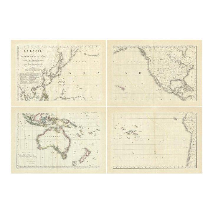 Pacific Ocean by Adrien Hubert Brue 1814