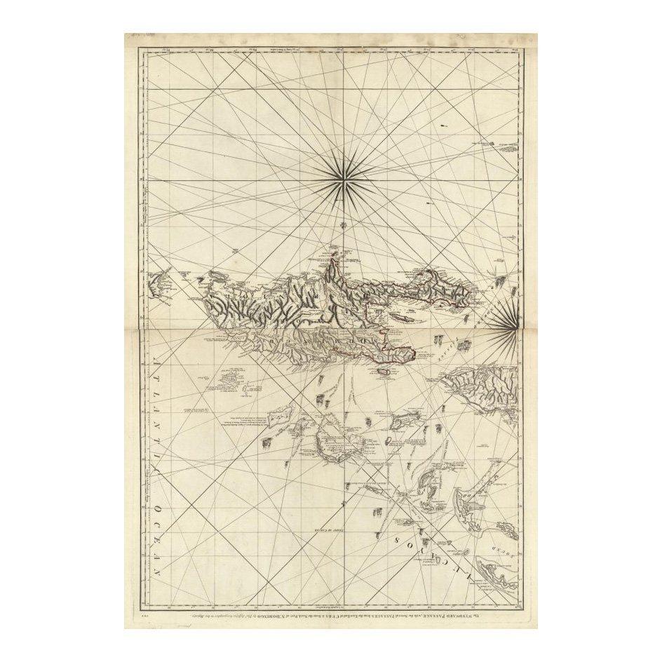 The Windward Passage by Thomas Jefferys 1794