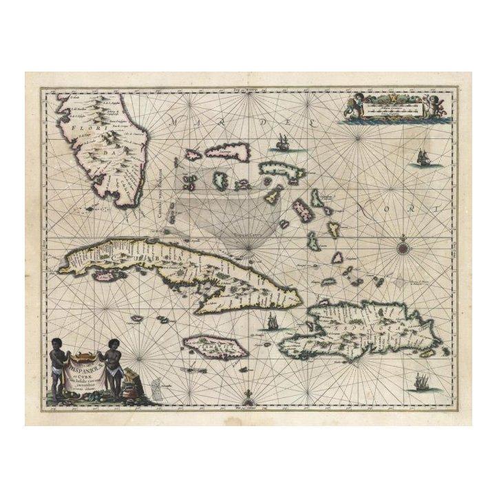 Insularum Hispaniolae et Cubae by Joannes Janson 1650
