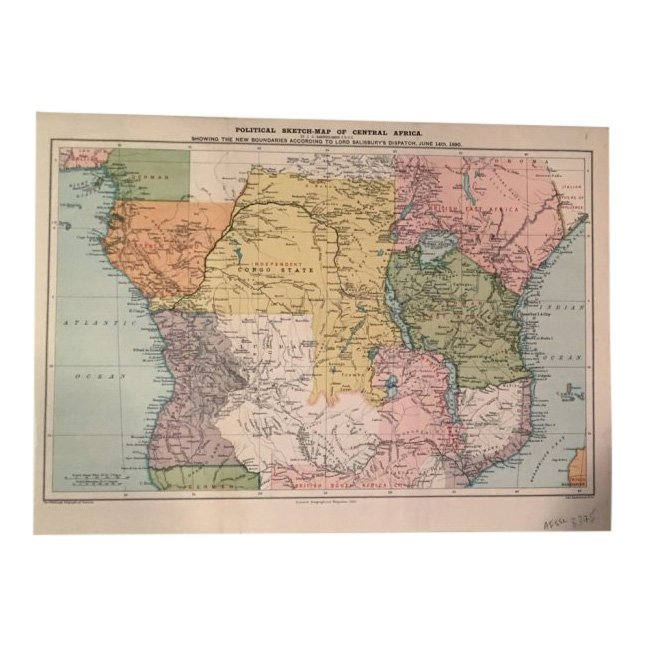 Political Sketch-Map of Central Africa