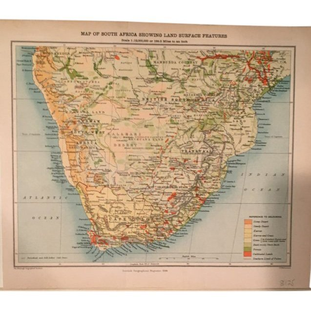 Map of South Africa 1896
