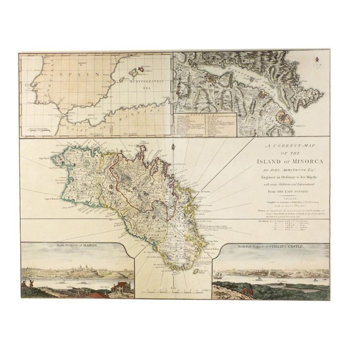 Correct Map of Island of Minorca by John Armstrong 1794
