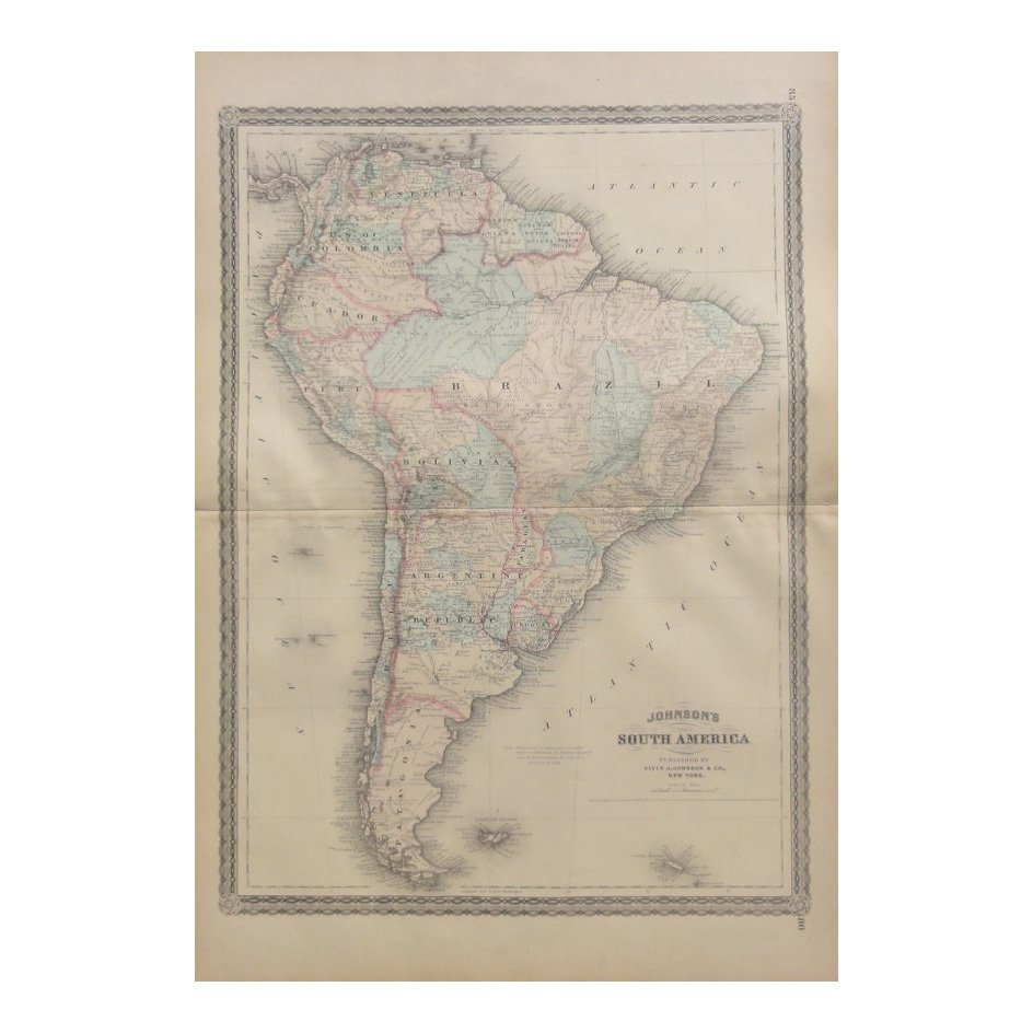 South America by Johnson 1868