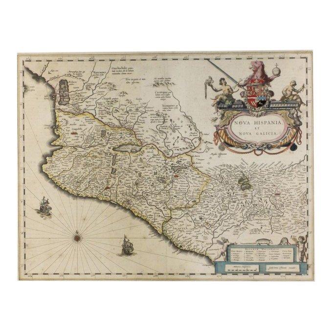 Nova Hispania et Nova Galicia by Willem J. Blaeu 1640