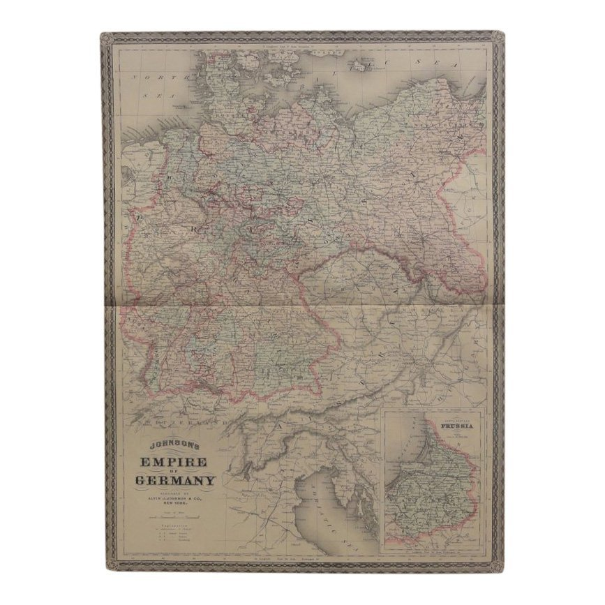 Empire of Germany by Johnson 1868