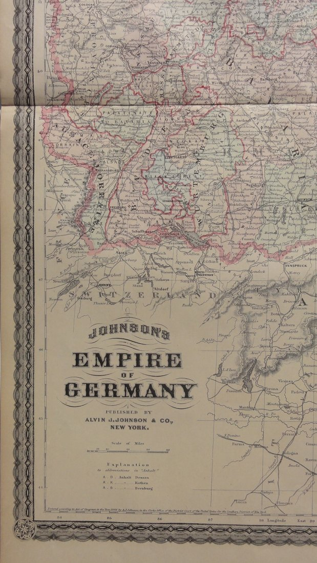 Empire of Germany by Johnson 1868 - 3