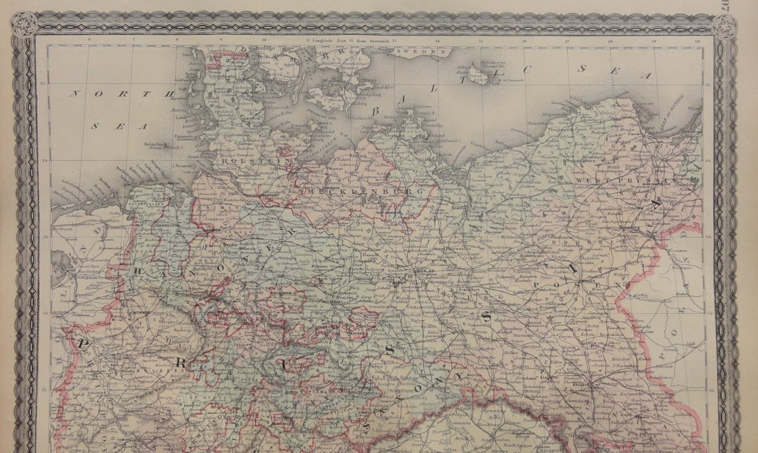 Empire of Germany by Johnson 1868 - 5