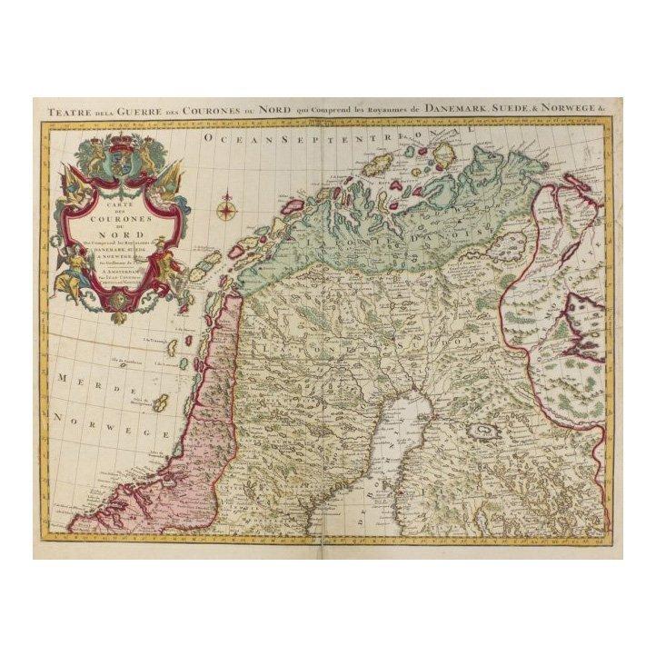 Danemark, Suede, & Norwege by Guillaume De L'Isle 1730