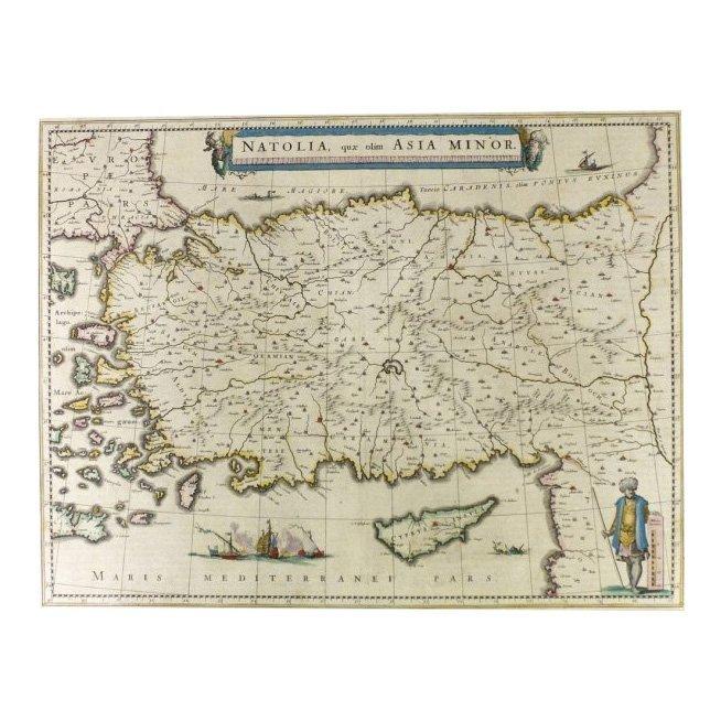 Natolia, quae olim Asia minor by Joannis Blaeu 1650