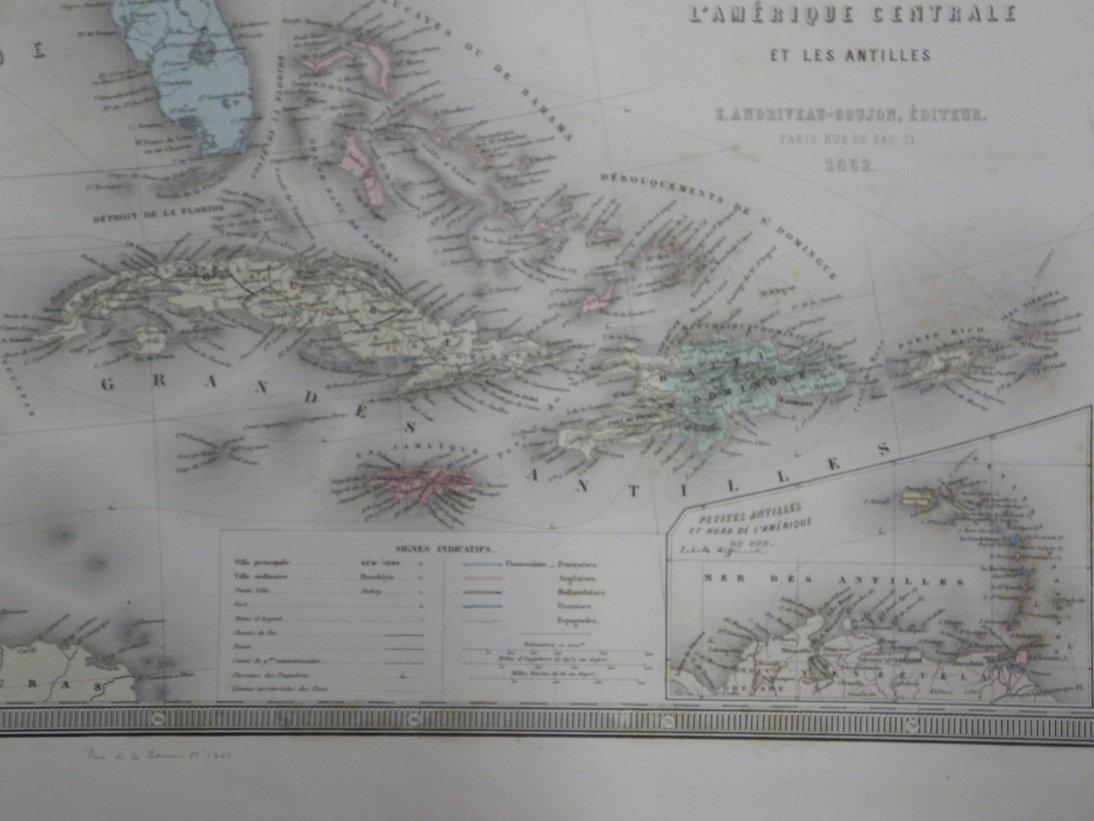 Carte Genrale Des Etats-Unis Et Du Mexique 1862 - 3