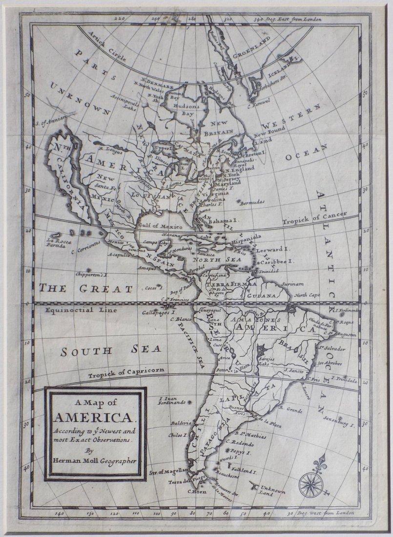 America by Herman Moll 1716 - 2