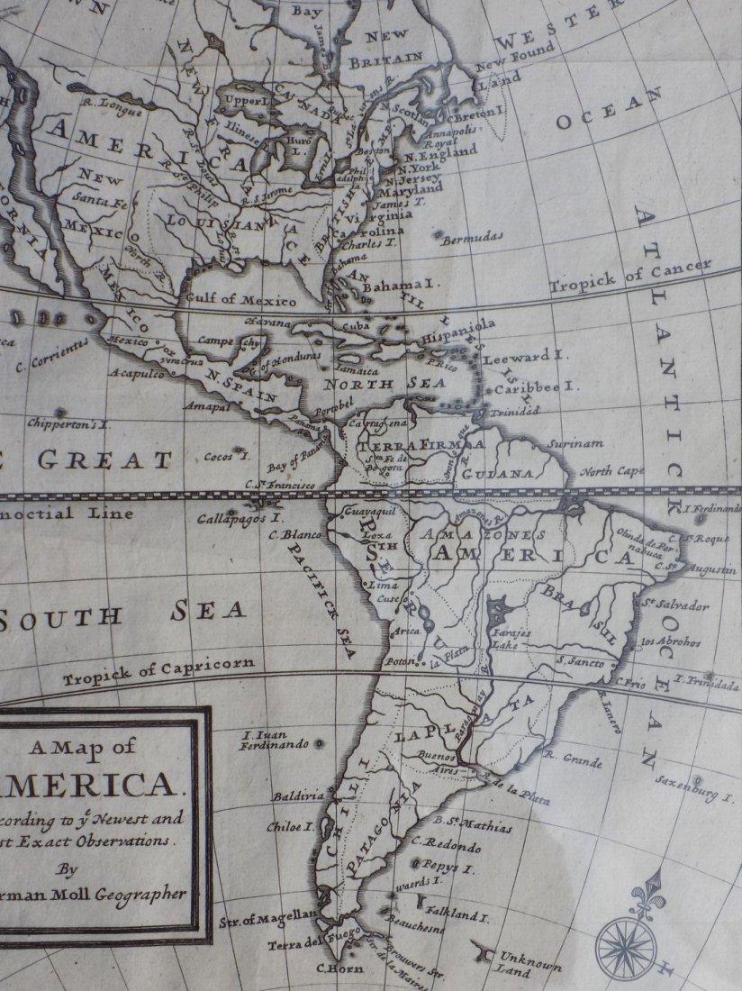 America by Herman Moll 1716 - 3