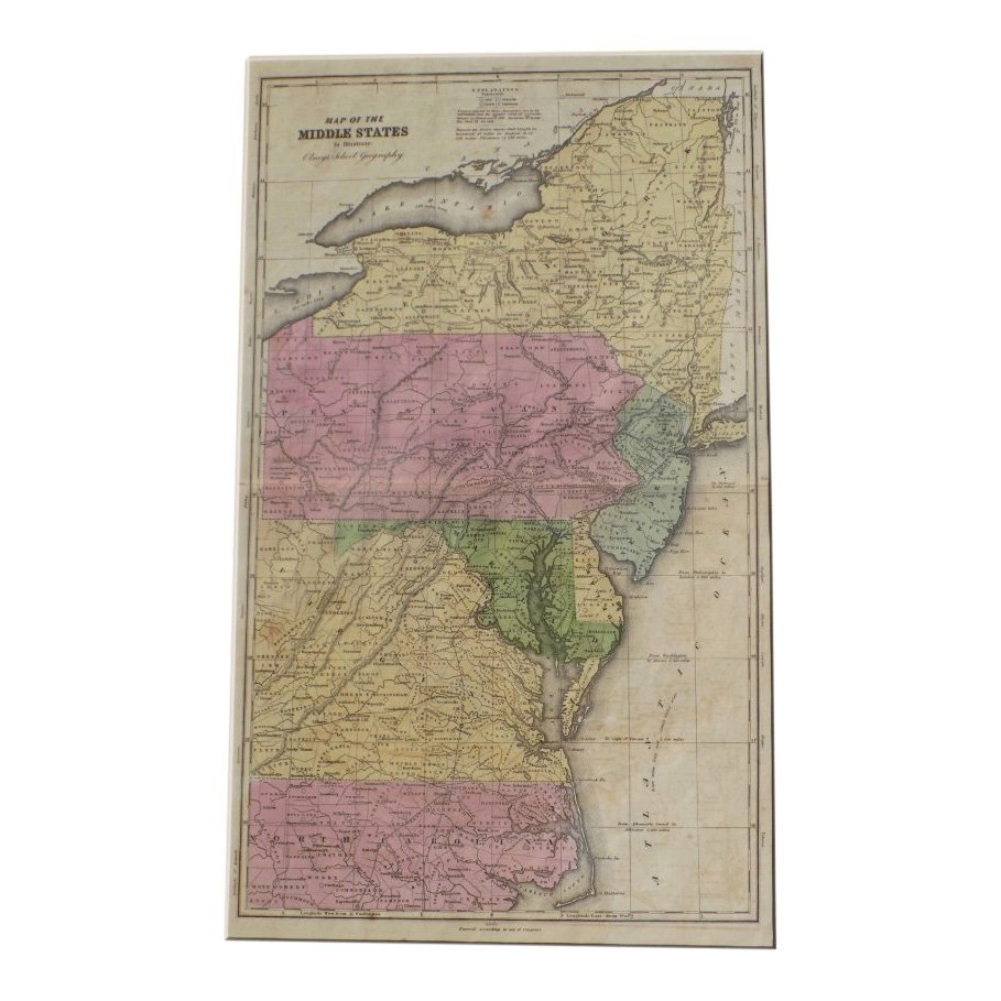 Middle States of United States 1829