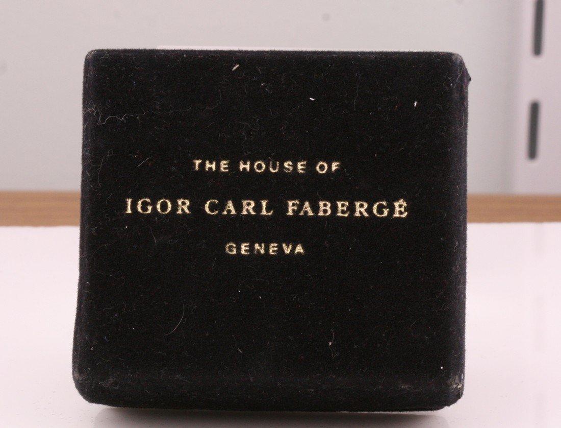 14K Gold Franklin Mint Sapphire Faberge Egg - 4