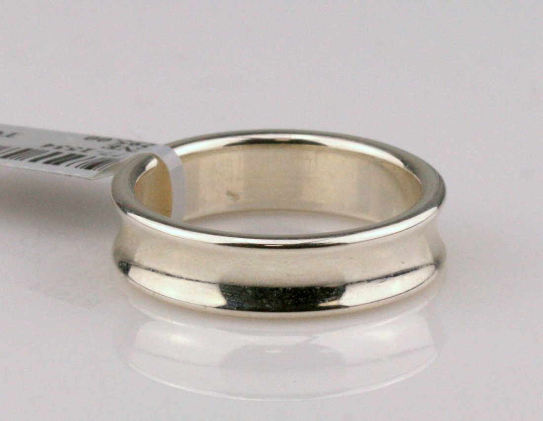 Tiffany & Co: Sterling Silver Men's Band Ring - 2