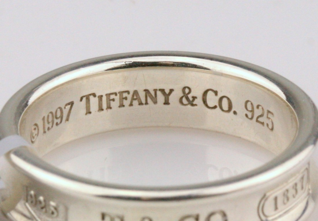 Tiffany & Co: Sterling Silver Men's Band Ring - 3