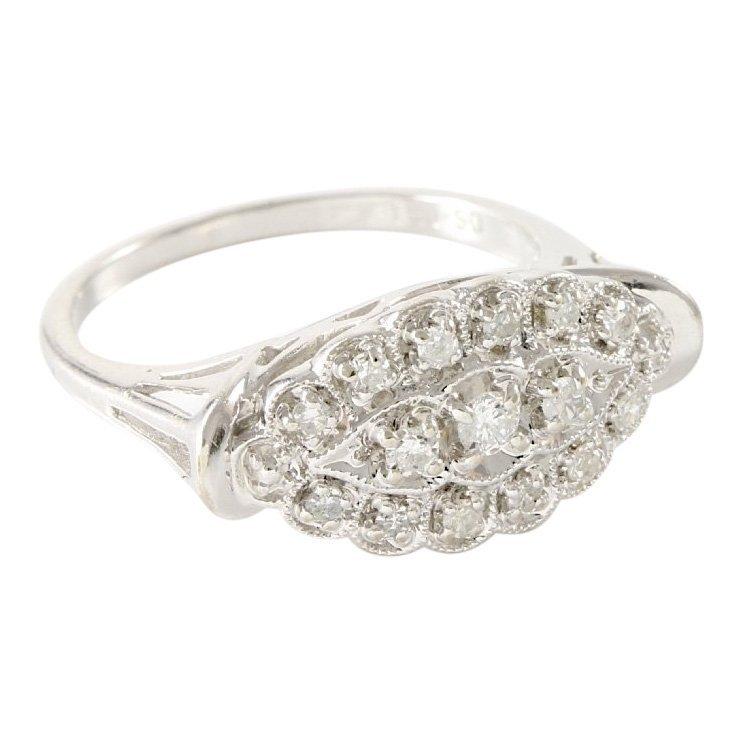 Estate 14K White Gold Diamond Ring, 0.50 ctw