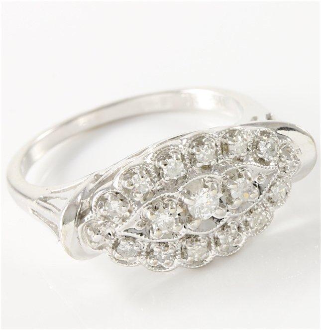 Estate 14K White Gold Diamond Ring, 0.50 ctw - 4