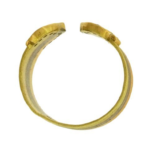 18K Tricolor Gold Open Ring - 3