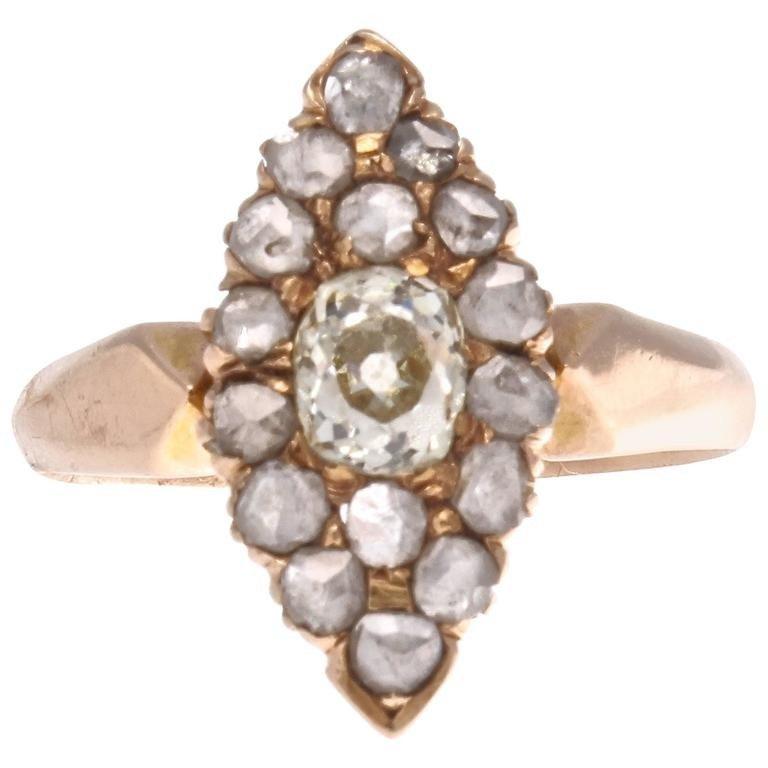 19th C Victorian Diamond Engagement Ring