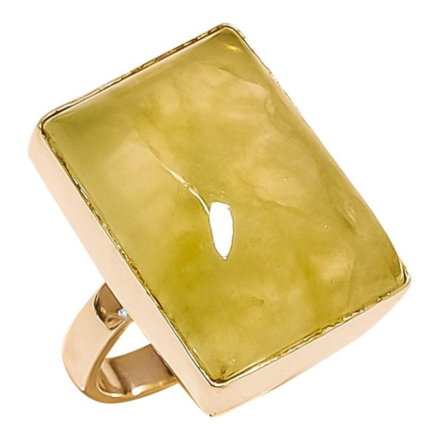 Prehnite Sterling Silver Ring
