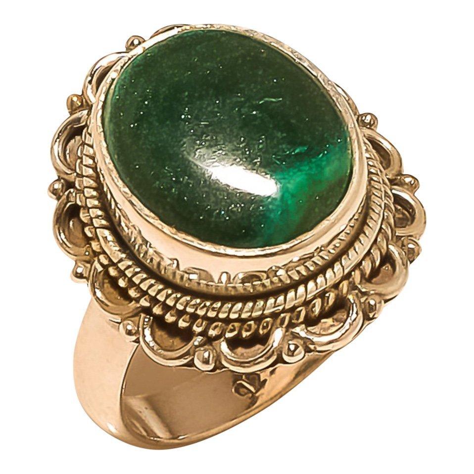 Malachite Sterling Silver Ring