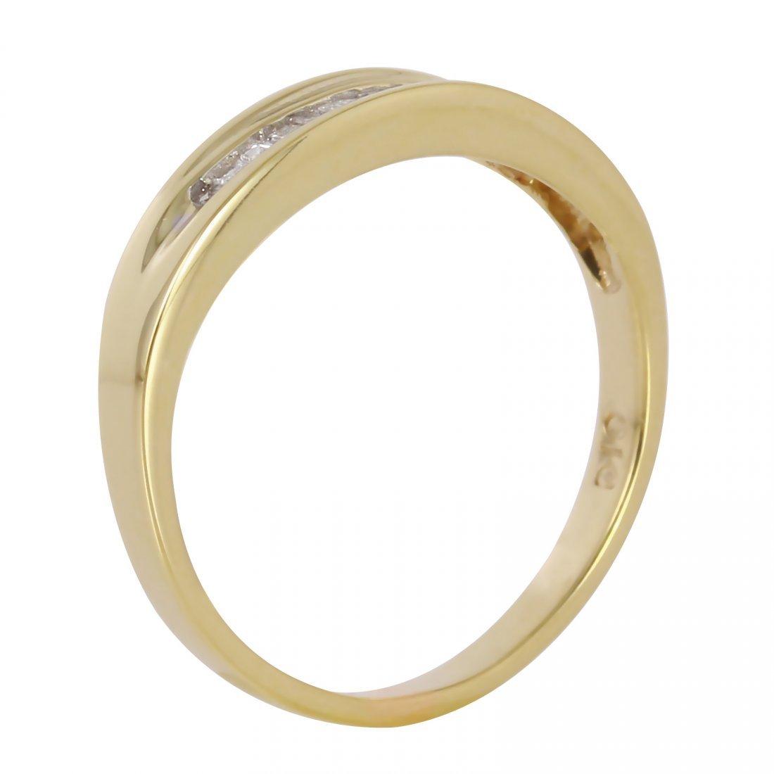 14K Yellow Gold Diamond Wedding Band, 0.25 ctw - 2