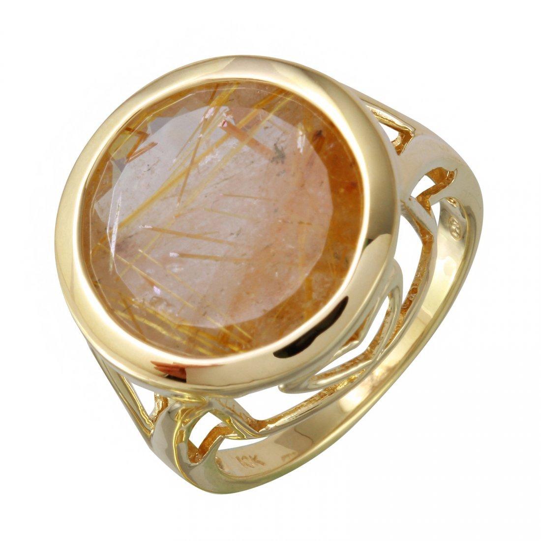 10K Yellow Gold Quartz Ring, 10 cts