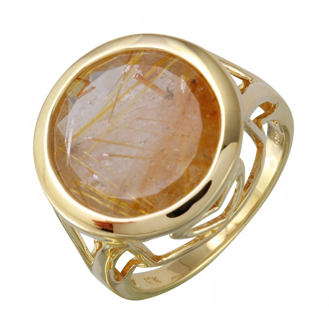 10K Yellow Gold Quartz Ring, 10 cts