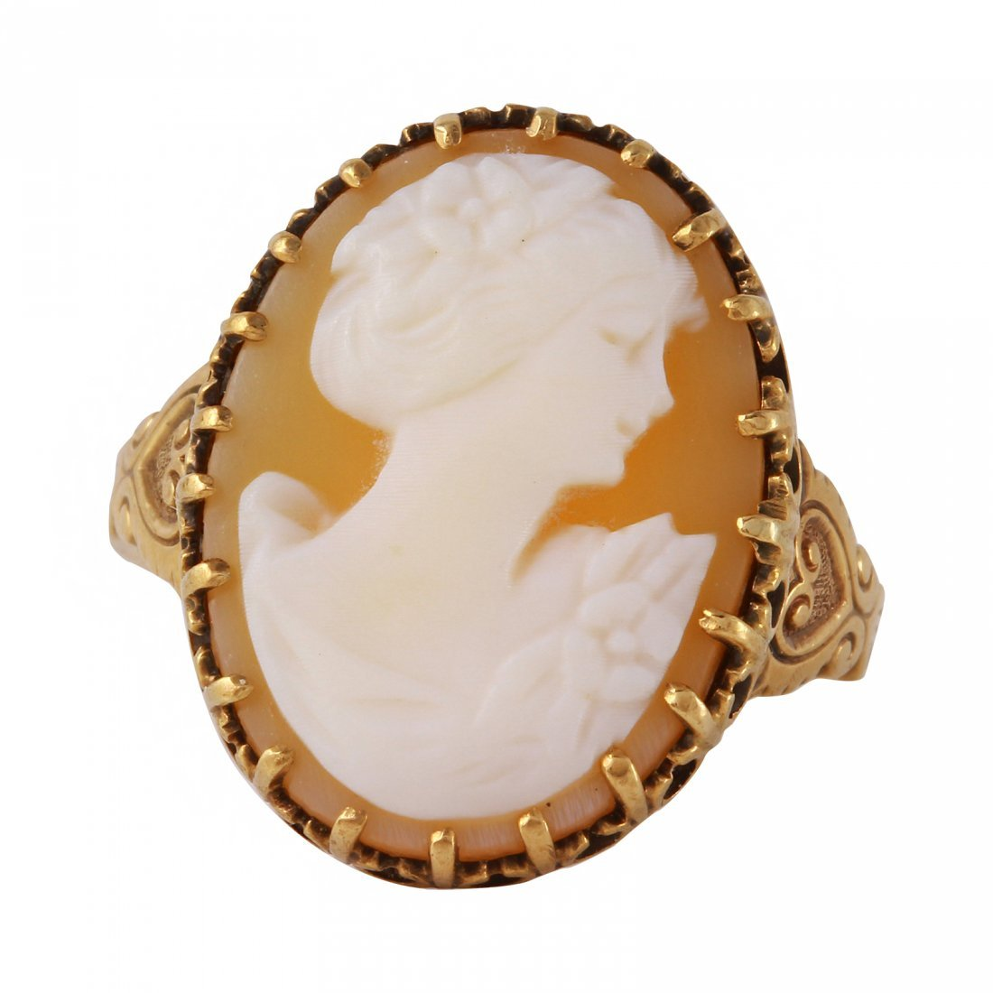 10K Yellow Gold Cameo Ring