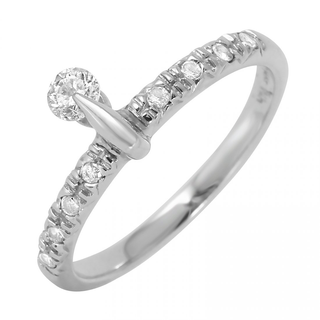 14KT White Gold Diamond Ring, 0.18 ctw