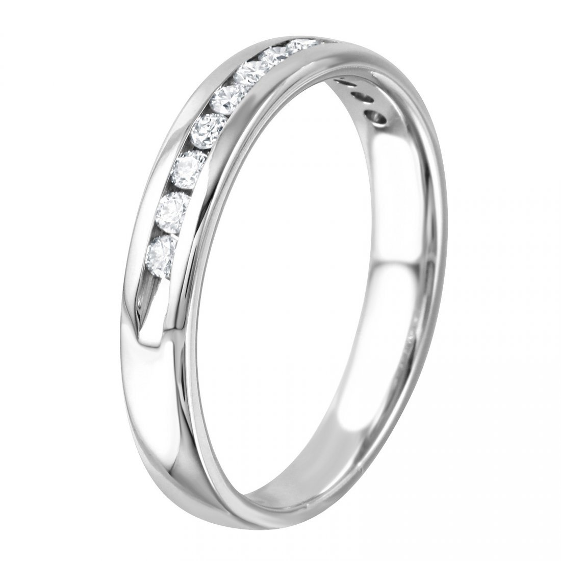 14K White Gold Diamond Wedding Band, 0.2 ctw - 2