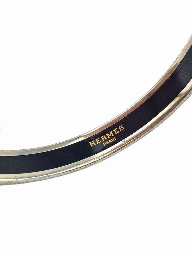 Hermes: Printed Enamel Chain Link Narrow Bracelet 70 - 3