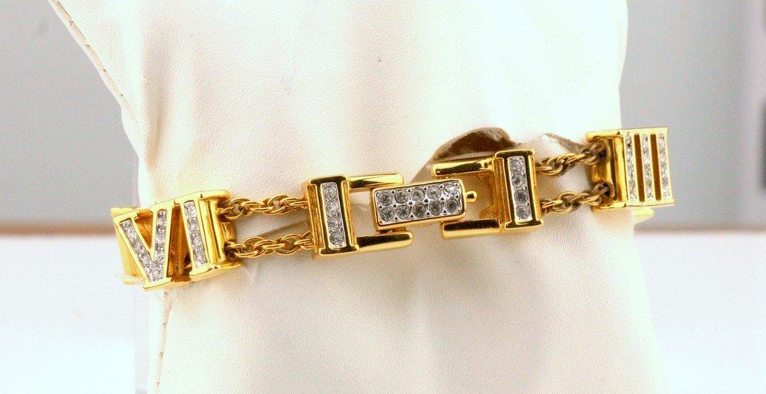 Swarovski: Crystal Roman Numeral Bracelet - 2