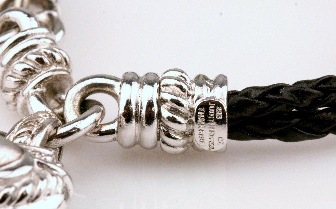 Judith Ripka: CZ & Sterling Rope Heart Bracelet - 3
