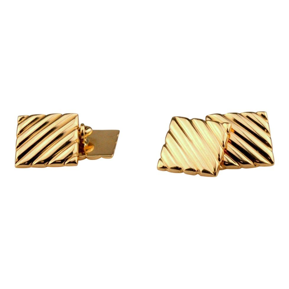 Tiffany & Co: 14K Yellow Gold Cuff Links