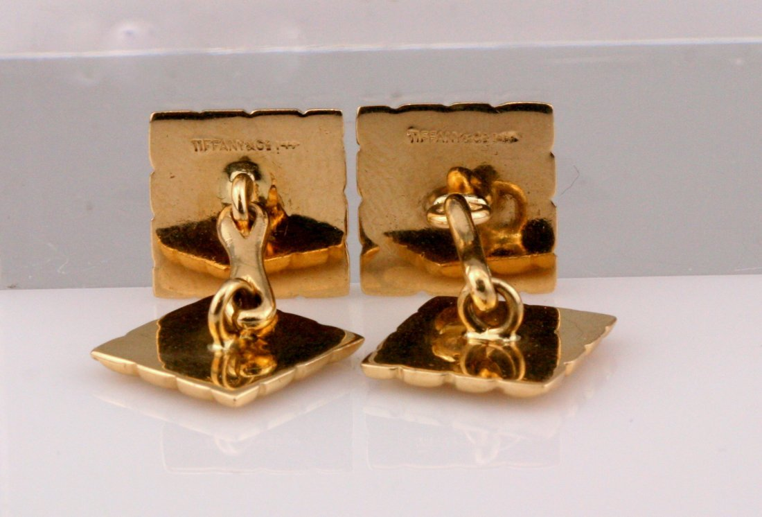 Tiffany & Co: 14K Yellow Gold Cuff Links - 3