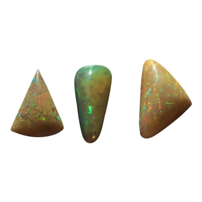 Group of 3 Welo Opal Cabochon, 8.20 ctw