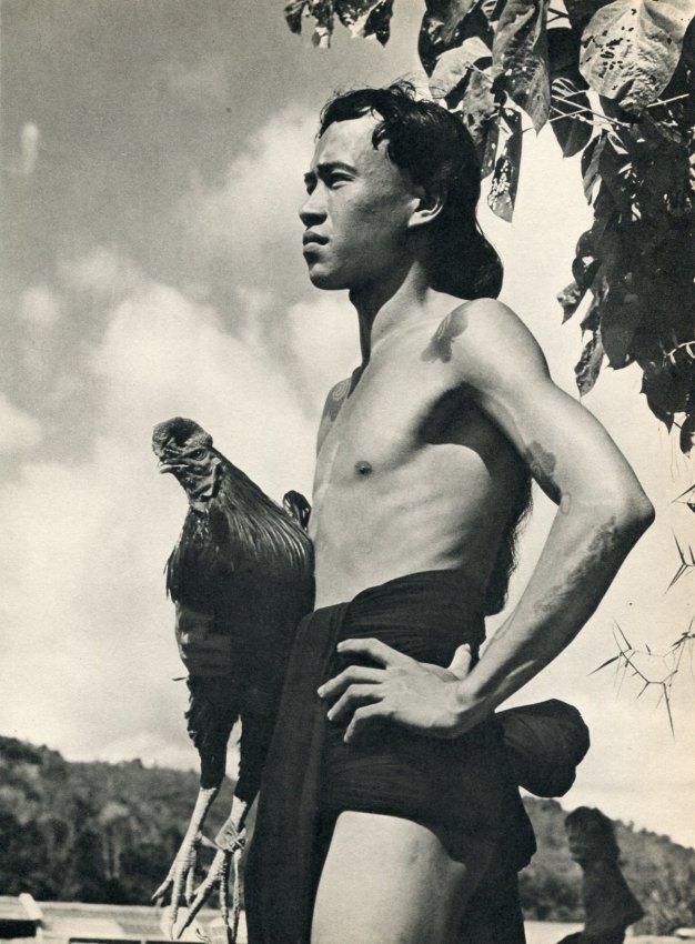 K F Wong: Young Iban Man - Borneo