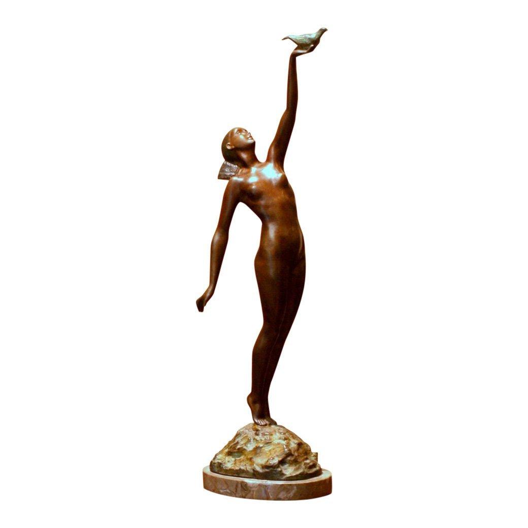 Le Faguays Message of Love Bronze Statue