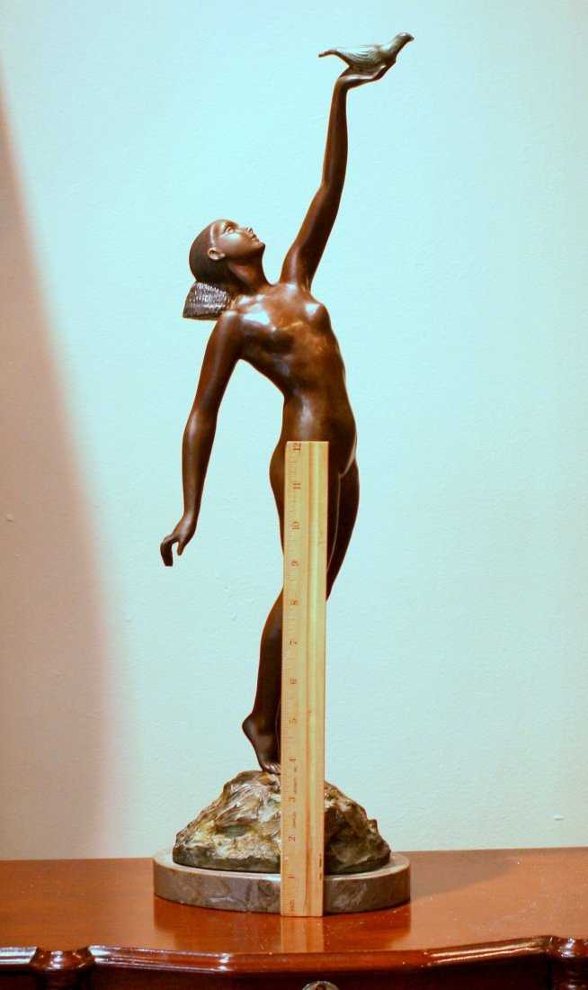 Le Faguays Message of Love Bronze Statue - 3