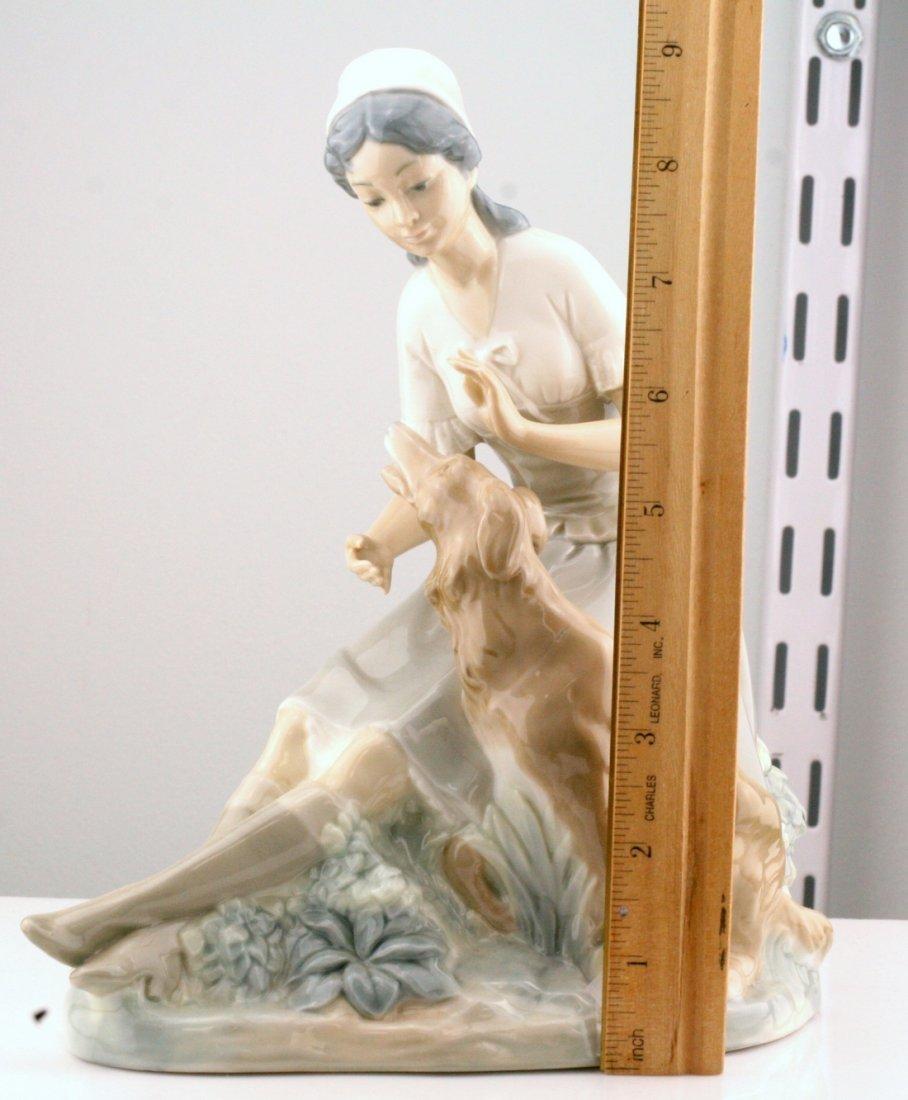 Lladro Nao Woman With Dog Figurine - 2