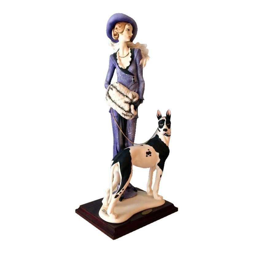 Giuseppe Armani Lady with Great Dane Figurine