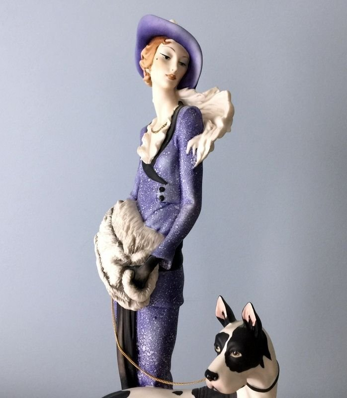 Giuseppe Armani Lady with Great Dane Figurine - 4